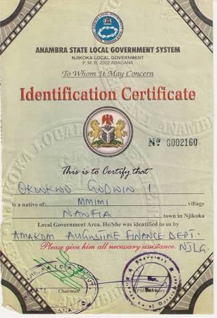 How to get local government certificate in nigeria